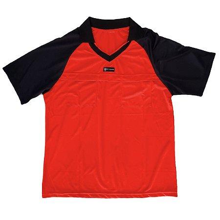 Camisa para Árbitro - Juiz de Futebol AX Esportes Vermelho