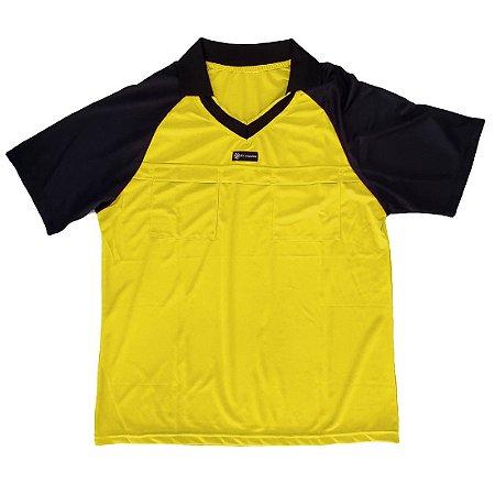 Camisa para Árbitro - Juiz de Futebol AX Esportes Amarelo