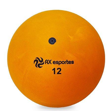 Bola de Iniciação Borracha AX Esportes Nº12 - Laranja