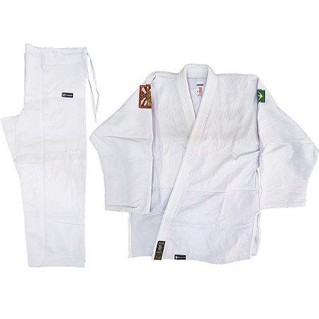 Kimono Adulto de Judô AX Esportes Trançado Branco