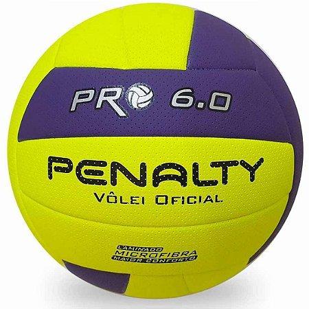 Bola de Vôlei Penalty PRO 6.0 X - Amarela e Roxa