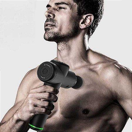 Pistola Massageadora Massage Gun LiveUP - Massageador Prata