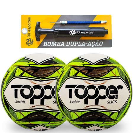 Kit 2 Bolas de Society Topper Slick e 1 Bomba