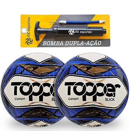 Kit 2 Bolas de Campo Topper Slick e 1 Bomba