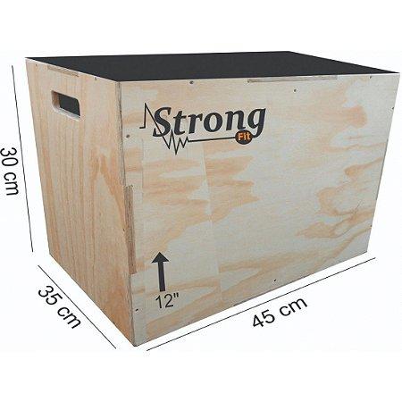 """Caixa de Crossfit Strong  12"""" - 30 x 45 x 35cm"""