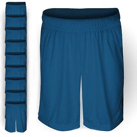 Pack 10 Calções AX Esportes Poliéster Liso Azul