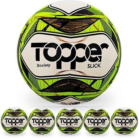 Pack com 6 Bolas de Futebol Society Topper Slick II