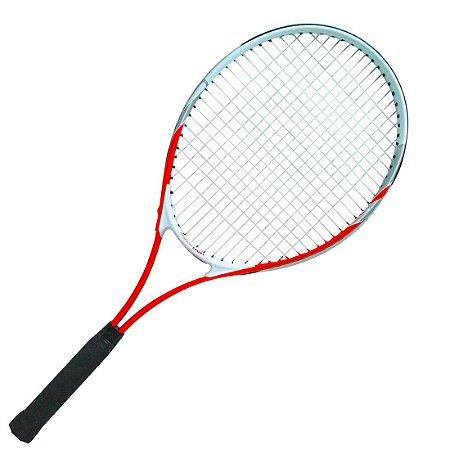 Raquete para Tênis Adulto Pro Alumínio Vermelha c/ Capa