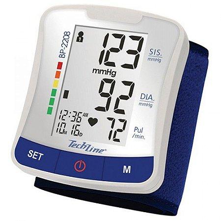 Aparelho de Pressão/Esfigmomanômetro  Digital de Pulso Tech Line (Cód.: BP2208)