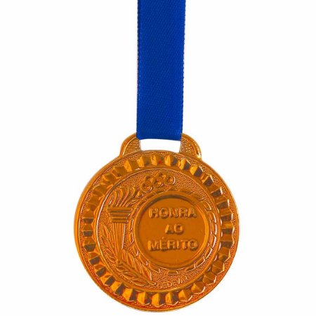 Medalha AX Esportes Bronzeada 35mm (Contém 10 unidades)