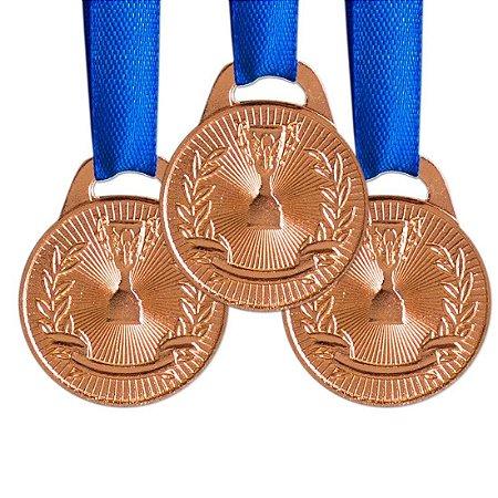 Pack c/ 10 Medalhas AX Esportes 30mm H. Mérito Bronze-FA465