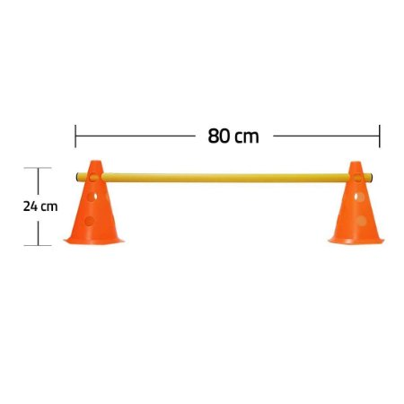 Kit  Agilidade  8 Cones 24 cm e 4 Barreiras 80cm