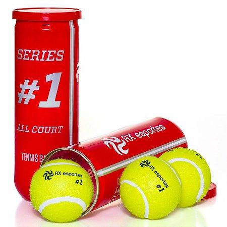 Pack c/ 10 Tubos de Tênis Premium AX Esportes Tubo com 3