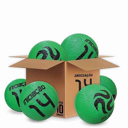 Pack c/ 10 Bolas de Iniciação AX Esportes Nº14 - Verdes