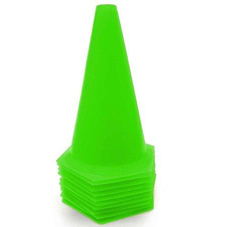 10 Cones 23cm Rígidos p/ Treinamento AX Esportes Limão