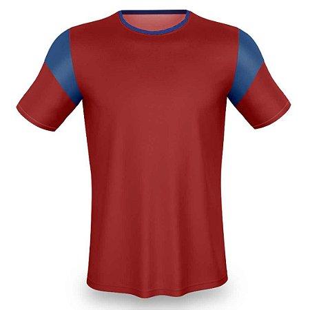 Jogo de Camisa para Futebol AX Esportes Onda Pop Vermelho com Azul - 14+1 Numeradas