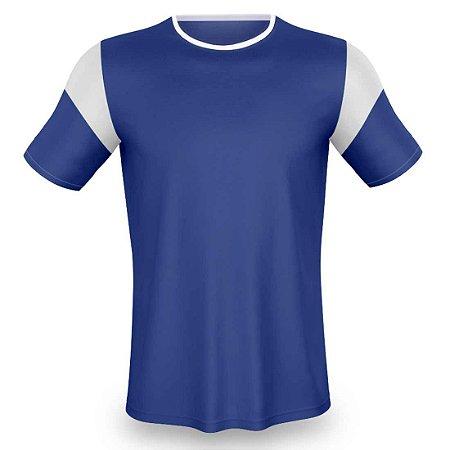 Jogo de Camisa para Futebol AX Esportes Onda Pop Royal com Branco - 14+1 Numeradas