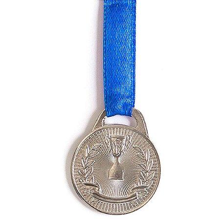 Medalha AX Esportes 30mm Honra ao Mérito Prateada - FA465 (Pç)