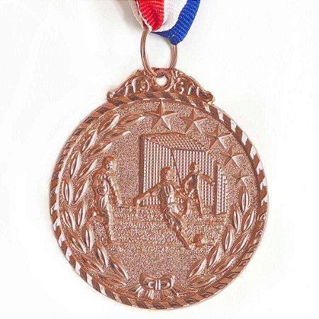 Medalha AX Esportes 50mm Futebol Star Alto Relevo Bronzeada - Y227B