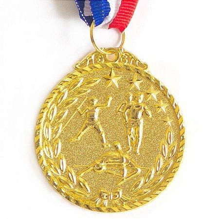 Medalha AX Esportes 50mm Atletismo Alto Relevo Dourada - Y225D