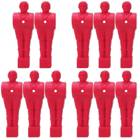 Kit c/ 11 Bonecos de Pebolim Vermelhos 10,3Cm