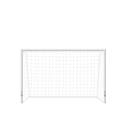 Trave de Futsal AX Esportes Desmontável com Requadro e sem Buchas - Par