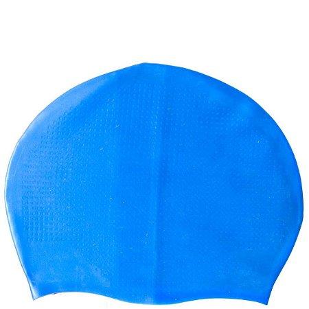 Touca Natação Massageadora AX Esportes Silicone Azul-OA337