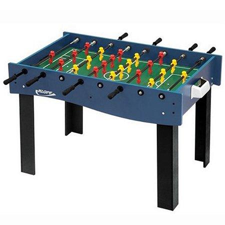 Mesa Multi Jogos Klopf 3 em 1 - Pebolim, Jogo de Botão e Ping Pong
