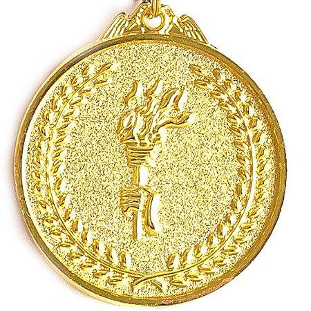 Medalha AX Esportes 64mm Honra ao Mérito Alto Relevo Dourada - FA485