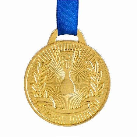Medalha AX Esportes 41mm Honra ao Mérito Dourada-FA467 Pç