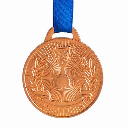 Medalha AX Esportes 41mm Honra ao Mérito Bronzeada - FA467-430 (Pç)