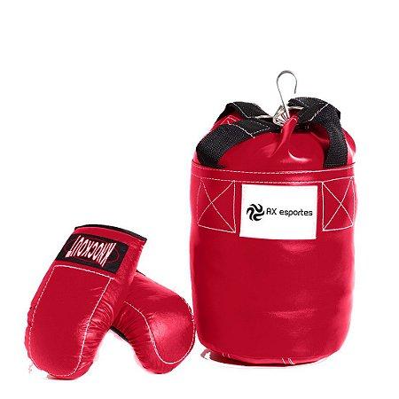 Kit de Boxe Infantil AX Esportes com Saco e Luva - 06 Anos