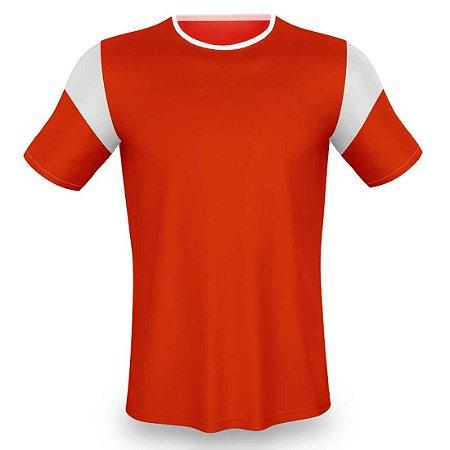 Jogo de Camisa para Futebol AX Esportes Vermelho com Branco - 10+1 Numeradas