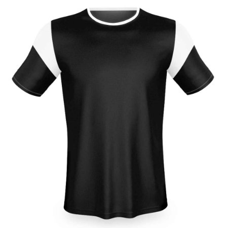 Jogo de Camisa para Futebol AX Esportes Preto com Branco - 10+1 Numeradas