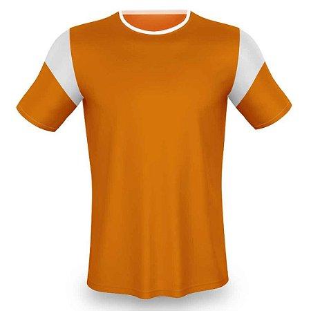 Jogo de Camisa para Futebol AX Esportes Laranja com Branco - 14+1 Numeradas