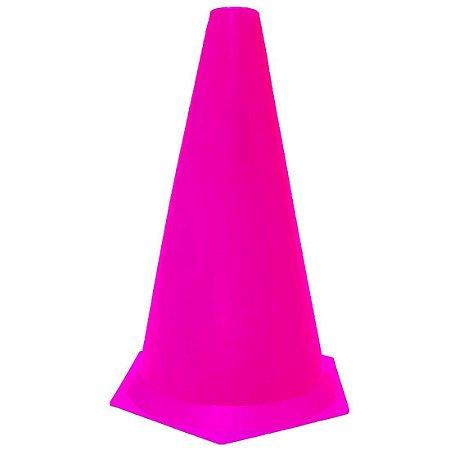 Cone 23cm Rígido p/ Treinamento AX Esportes Rosa