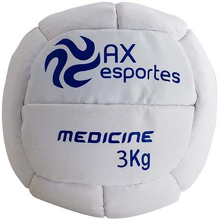 Bola Medicine Ball 3 Kg AX Esportes Costurada - 530093