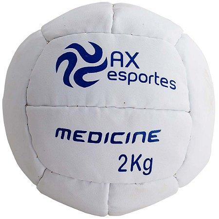 Bola Medicine Ball 2 Kg AX Esportes Costurada - 530092