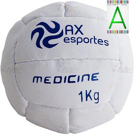 Bola Medicine Ball 1 Kg AX Esportes Costurada - 530091
