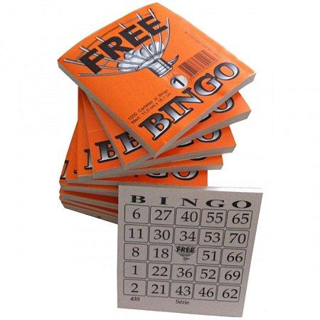 Bloco de Cartelas de Bingo com 1500 Folhas Ax Esportes