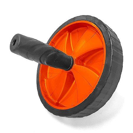 Roda de Exercícios Abdominais AX Esportes 19cm Laranja