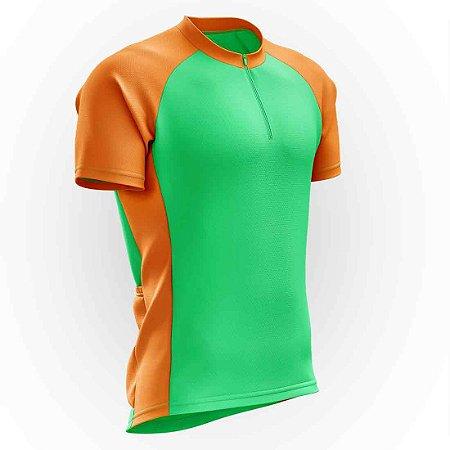 Camisa para Ciclismo AX Esportes Verde e Laranja