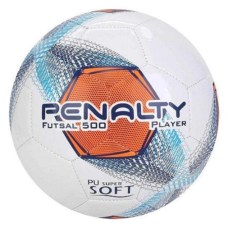 Bola de Futsal Player 500 Penalty - Branca/Laranja