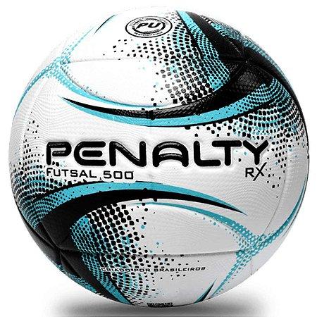 Bola de Futsal Penalty RX 500 XXI - Branca e Azul