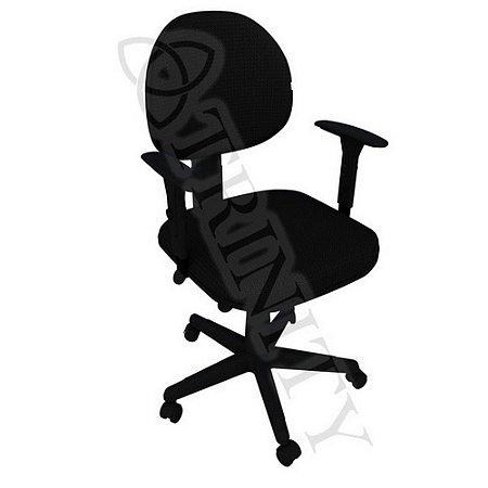 Cadeira Giratória Executiva com Braço Regulável