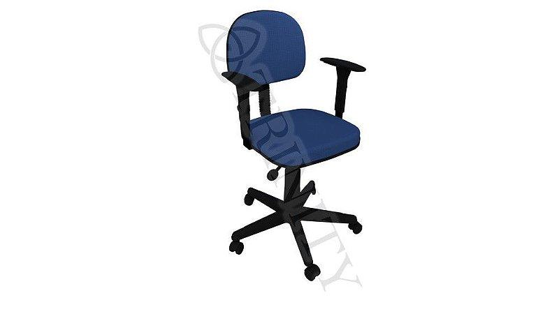 Cadeira Secretária Anatômica Giratória Back System com Braço Regulável injetada