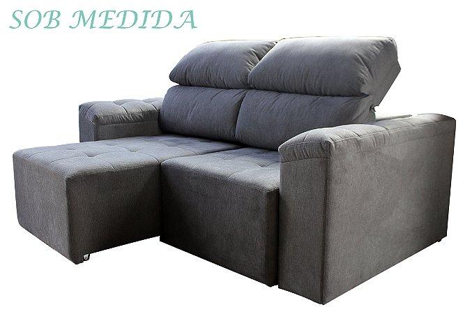 SOB MEDIDA - Sofá Retrátil e Reclinável Agatha