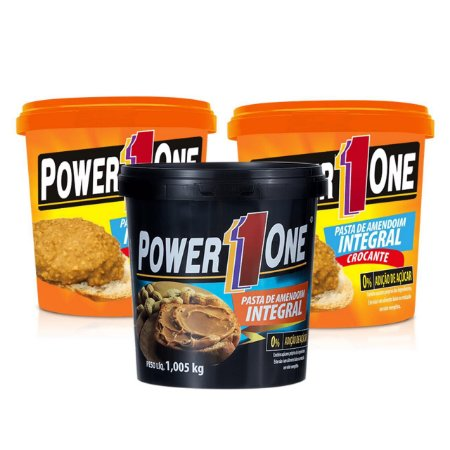 Pasta de Amndoim Integral Power One - 1kg (promoção)