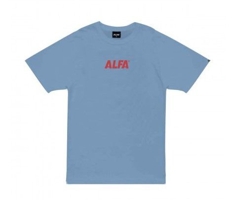 Camiseta Alfa Logo Center Azul Claro