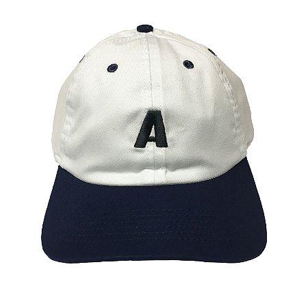 Boné Alfa Aba Curva Authentic Branco e Azul